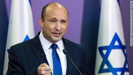 Naftali Bennett přednese politické prohlášení v Knessetu v Jeruzalémě 30. května 2021.