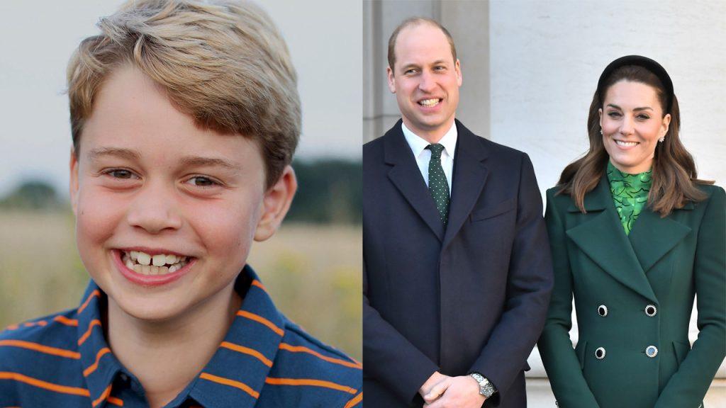 """Kate Middleton a princ William oslavují narozeniny prince Georgea ranním obrázkem: """"Turning the eight"""""""